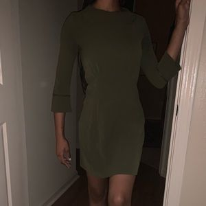 Olive green business casual dress